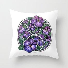 Botanical zodiac ~ Taurus Throw Pillow
