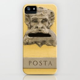 Original demon italian mail box Firenze Tuscany Italy iPhone Case
