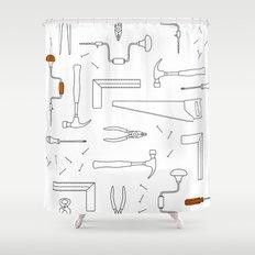 Carpenter Tools Shower Curtain