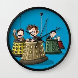 Doctors in Daleks Wall Clock