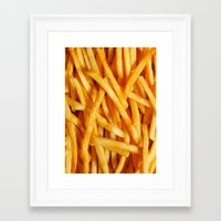 fries Framed Art Prints featuring Fries by Maioriz Home