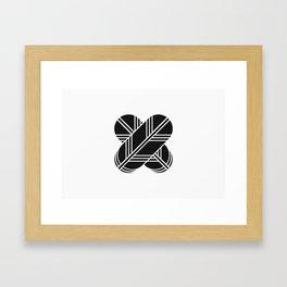 Kikuchi Clan · Black Mon Framed Art Print