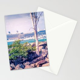 Cruise Ship Beyond The Sea Wall Stationery Cards
