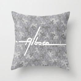 Space Gray Camo - Block 3 Throw Pillow