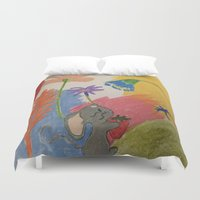 mouse Duvet Covers featuring Mouse by SketchMaster