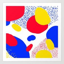 Primary Dots Art Print