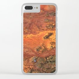 Mars mixed media on canvas, abstract art painting designs, contemporary artist colorful design Clear iPhone Case