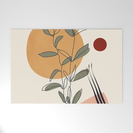 Minimal Line Young Leaves Welcome Mat