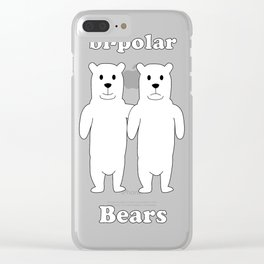 Bipolar Bears Clear iPhone Case