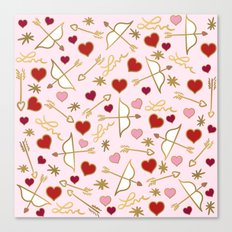 Cupid Love (soft pink) Canvas Print