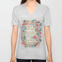 Little & Fierce Unisex V-Neck