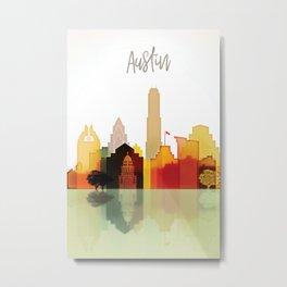Austin colorful skyline Metal Print