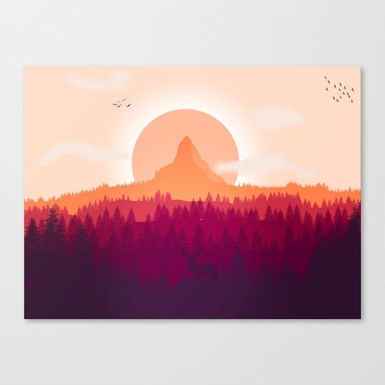 Wildlife Forest Canvas Print