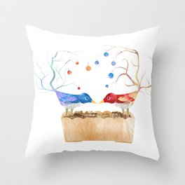 Two Birds in Love Throw Pillow