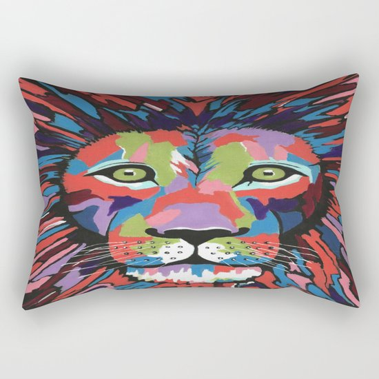 Flamboyant Lion Rectangular Pillow