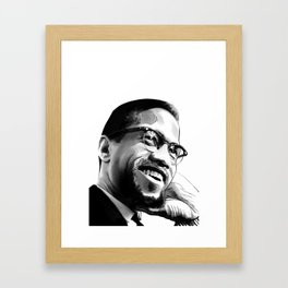Malcolm Smile by Joaquín Esteban J. Framed Art Print