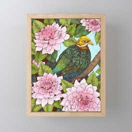 Whistling Fruit Dove in Spring Framed Mini Art Print