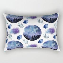 Forest Night Sky View Pattern Rectangular Pillow