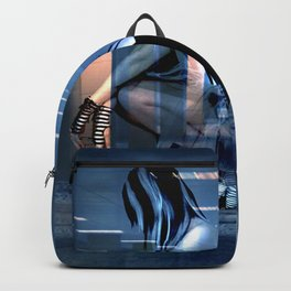 AWAITING THE END OF CORPORATE GREED Backpack