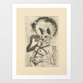 Kiki Pussy Art Print
