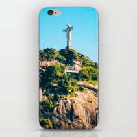 christ iPhone & iPod Skins featuring Christ Redeemer by Edgard Mello