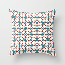 Spanish Tile Pattern Throw Pillow