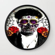Musician Sugar Skull Painting Wall Clock