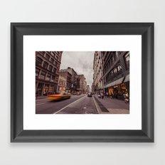 A Yellow Cab In SoHo Framed Art Print