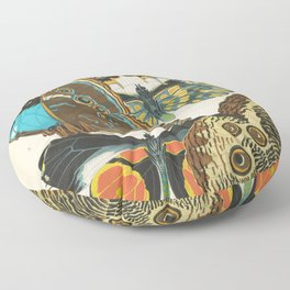 Butterfly and Moth Print by E.A. Seguy, 1920s #10 Floor Pillow