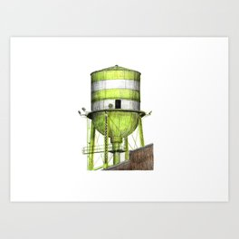 Montreal's Water Tower (Lachine Canal) Art Print