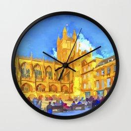 Bath Abbey Pop Art Wall Clock