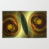 infinity Area & Throw Rugs featuring Infinity by Klara Acel