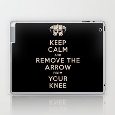 Keep Calm And Remove The Arrow From Your Knee Laptop & iPad Skin