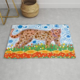 Leopard in the grass Rug