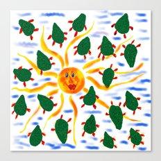 Sicily design Canvas Print