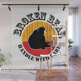 Broken Bear - Handle With Care Wall Mural
