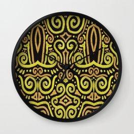 Golden Manipura 2 Wall Clock