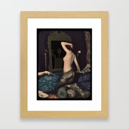 Ania with Narcissus Framed Art Print