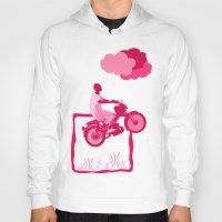 motorbike Hoodies featuring Motorbike Guy by Sergio Silva Santos