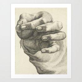 Hand and Needle, 1830 Art Print