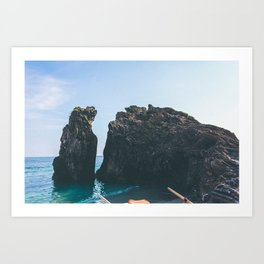 Mediterranean beach rock Art Print