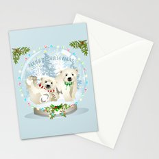 Snow globe bears Stationery Cards