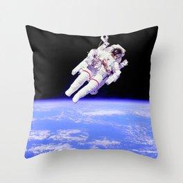 Untethered Spacewalk Astronaut Bruce McCandless Throw Pillow