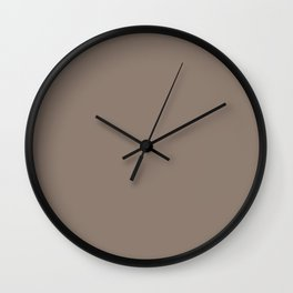 Mid-tone Brown Solid Color Behr 2021 Color of the Year Accent Shade Bridle Leather N180-5 Wall Clock