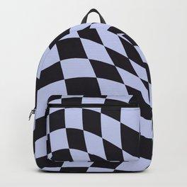 Warped Check Black Backpack