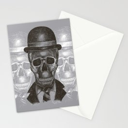 Worked To Death (Grey version) Stationery Cards