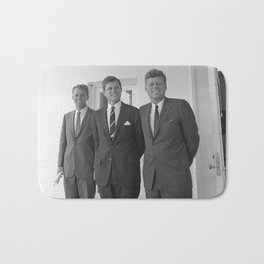 The Kennedy Brothers -- John, Robert, And Ted Bath Mat
