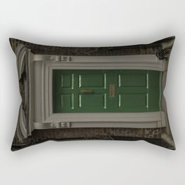 Green Door No Number Rectangular Pillow