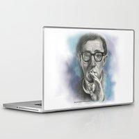 woody allen Laptop & iPad Skins featuring Woody Allen by Magdalena Almero