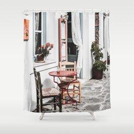 Amorgos Greece Shower Curtain